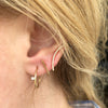 Shooting Star Earrings in Solid Yellow Gold