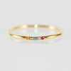 Rainbow Ring in Solid Yellow Gold