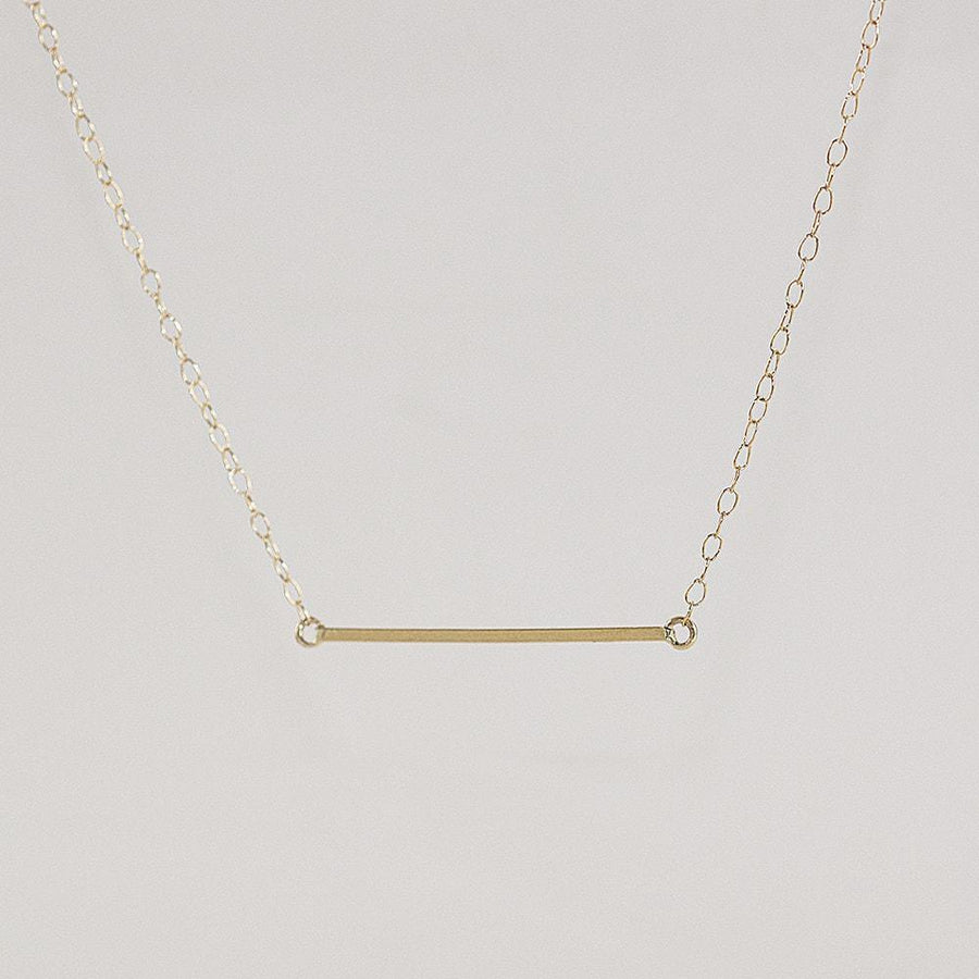 Bar Necklace in Solid Yellow Gold