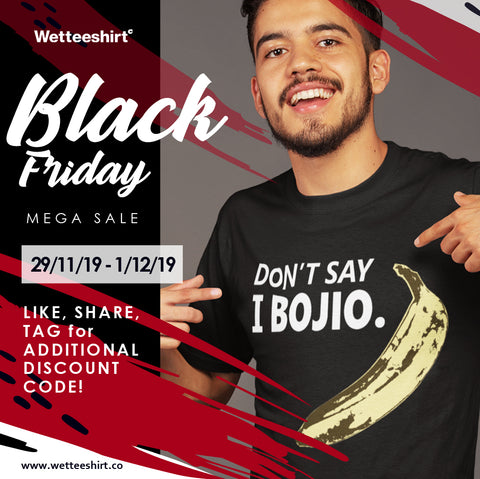 Black Friday Tshirt Sale Promotion Singapore