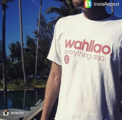 Wahllao Everything Also SG50 Crew Neck S-Sleeve T-shirt