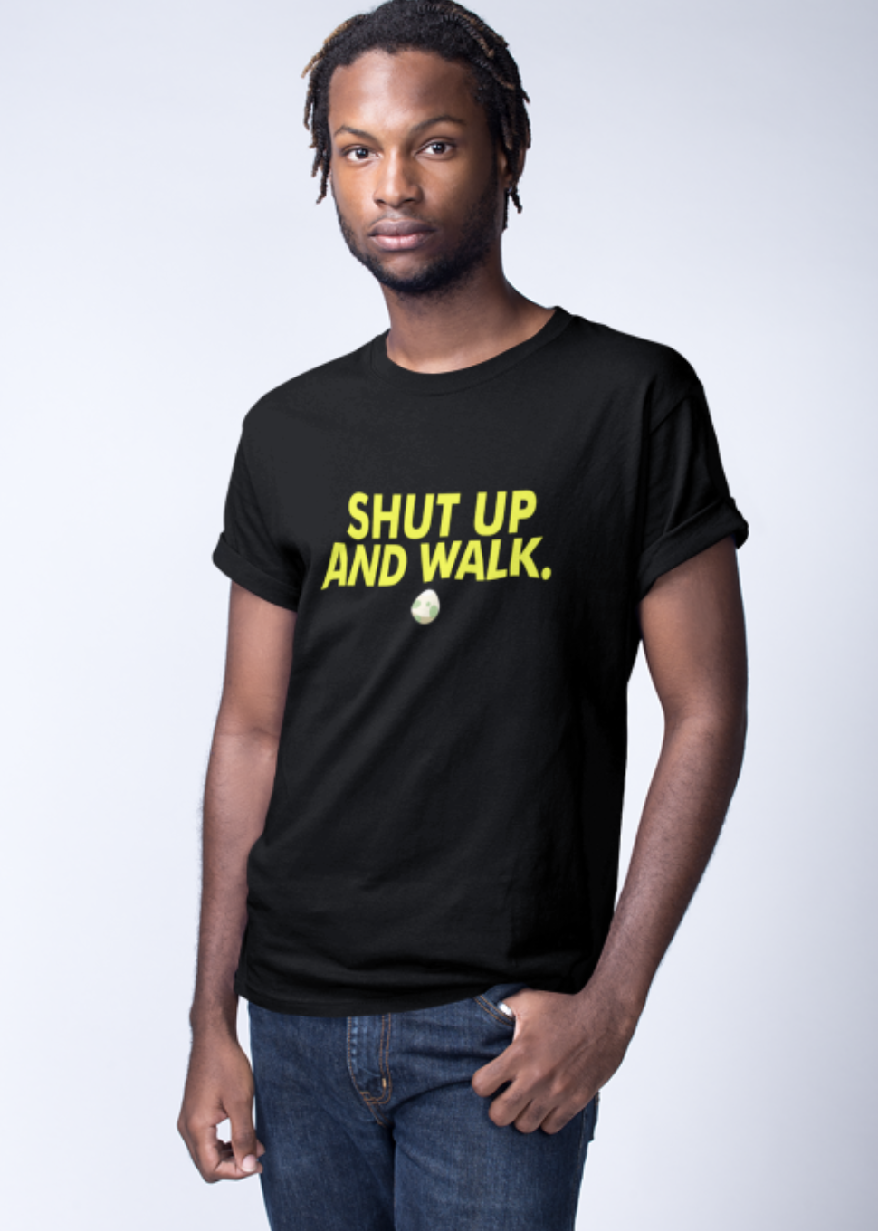 Shut Up and Walk Crew Neck S-Sleeve T-shirt