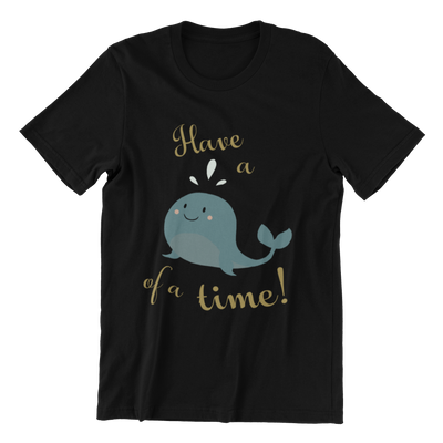 Tshirt Singapore Have A Whale Of A Time, black by Kaobeiking, Singapore tshirt designer