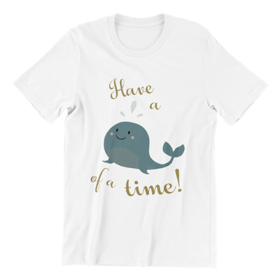 Tshirt Singapore Have A Whale Of A Time, white by Kaobeiking, Singapore tshirt designer