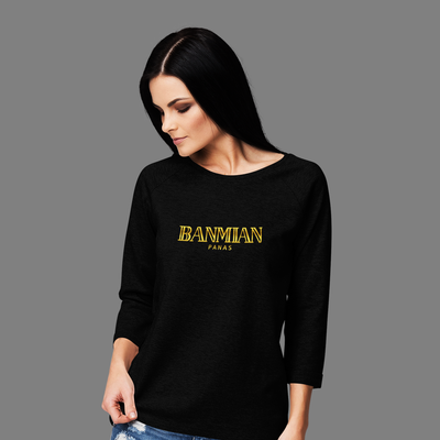 (Exclusive Gold Edition) Banmian Panas Crew Neck Long Sleeve T-shirt