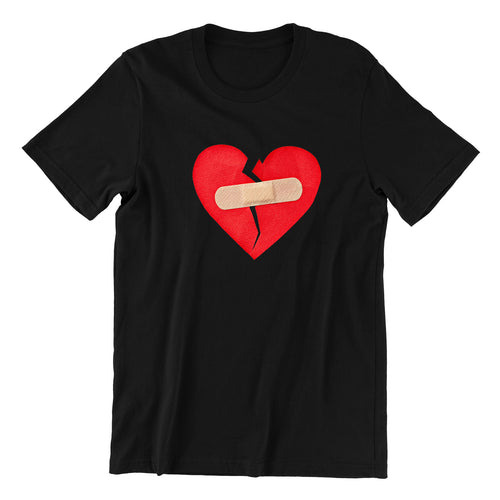 Broken Heart Crew Neck S-Sleeve T-shirt