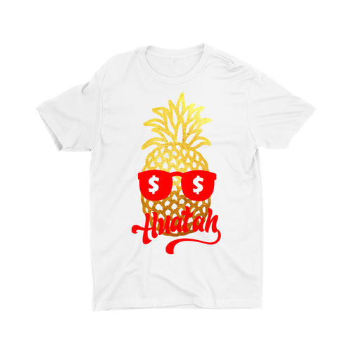 Limited Gold Edition Pineapple Huat Kids Crew Neck Short Sleeve T-Shirt