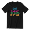 Singapore funny tshirt Eat Sleep Pa Game Repeat, black by Kaobeiking, Singapore tshirt designer