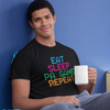 Singapore funny tshirt Eat Sleep Pa Game Repeat by Kaobeiking, Singapore tshirt designer