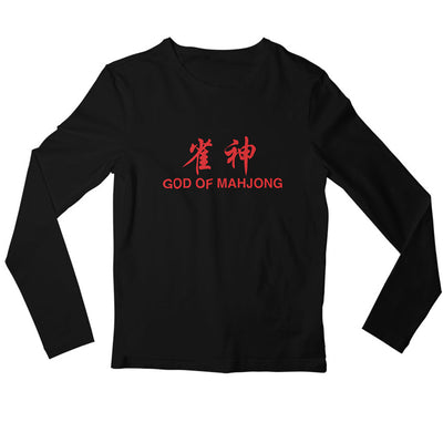 God of Mahjong Crew Neck L-Sleeve T-shirt