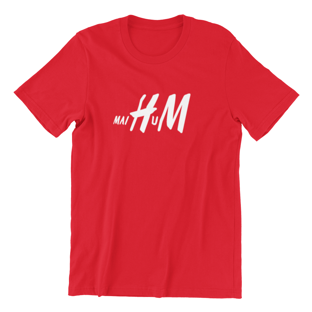Singapore funny tshirt Mai Hum, red by Kaobeiking, Singapore tshirt designer
