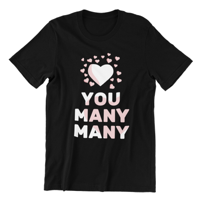 Love You Many Many Crew Neck S-Sleeve T-shirt