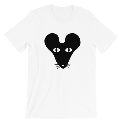 Black Faced Rat Crew Neck S-Sleeve T-shirt