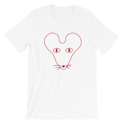 Rat Outline Crew Neck S-Sleeve T-shirt