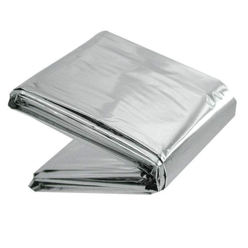 LINE2design Emergency Aluminized Silver Warm Thermal Mylar Blanket First  Aid Rescue Waterproof & Windproof - 52