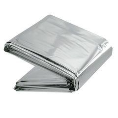 "LINE2design Emergency Aluminized Silver Warm Thermal Mylar Blanket First Aid Rescue Waterproof & Windproof - 52"" x 84"" - LINE2EMS - Blankets"