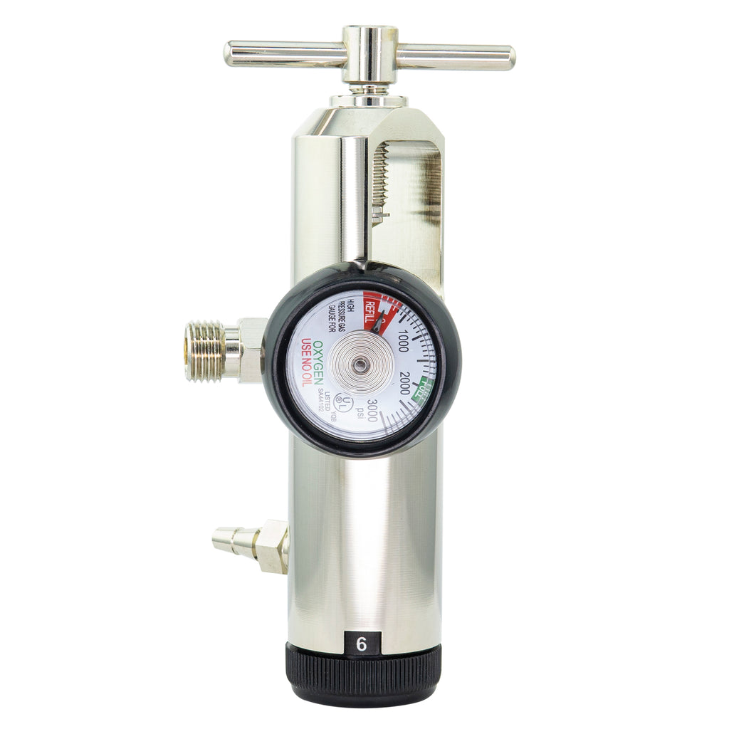 Brass Oxygen Regulator LINE2EMS
