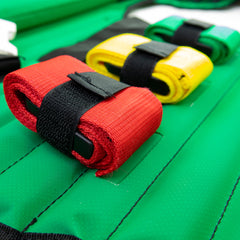 LINE2design First Aid KED Extrication Device - Immobilization Paramedic EMT Trauma Kit with Carrying Case - Green
