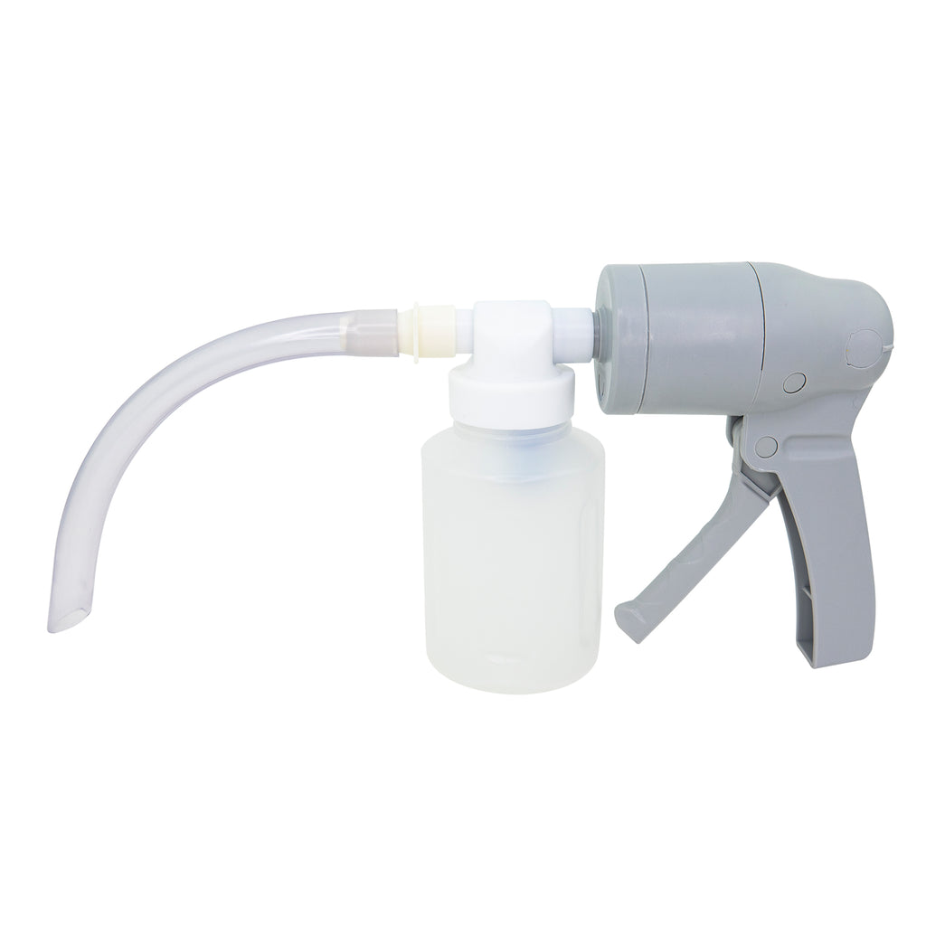 LINE2design Portable Manual Suction Pump Emergency EMS Medical Lightweight Disposable Hand Operated Vacuum Pump - White