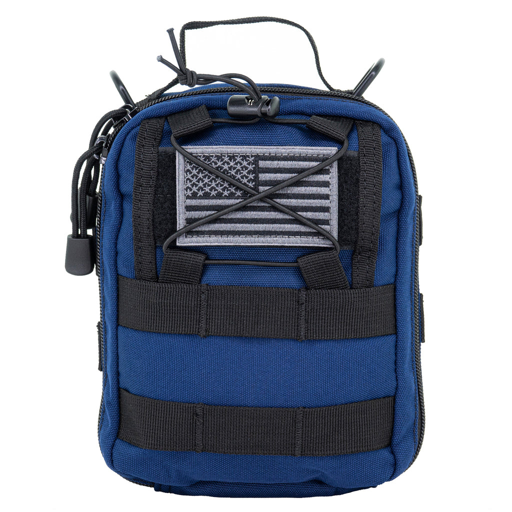 LINE2design Basic Individual First Aid MOLLE Kit, Emergency Medical Kit, Trauma Stop Bleeding Kit, Gunshot Emergency Kit-Navy