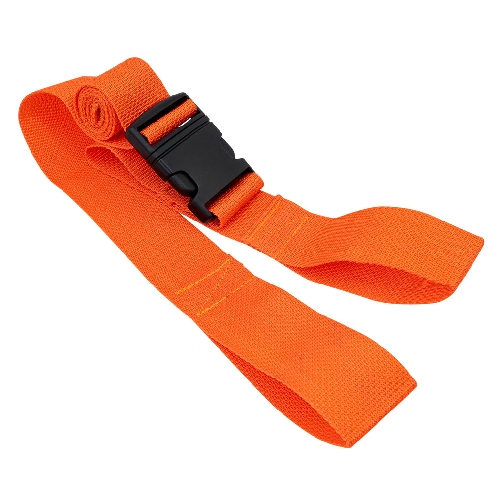 LINE2design  EMS Disposable Immobilization Spineboard Straps Orange with Plastic Buckle - 1 Pack
