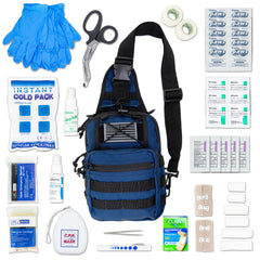 LINE2design Sling MOLLE Backpack First Aid Kit, Stop Bleeding First Aid Kit