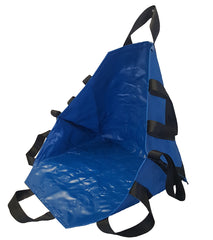 "LINE2design Emergency Portable Transport Unit-Seat, Durable 8 Handle Patient Transfer Sheet 36"" X 36"" Royal Blue All Impervious Material - LINE2EMS - Patient Handling"