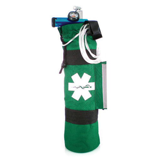 LINE2design Portable Oxygen Cylinder Sleeve Bag Star Of Life Logo Zippered Storage Tank Pouch with Two Adjustable Straps - LINE2EMS - Oxygen Bags