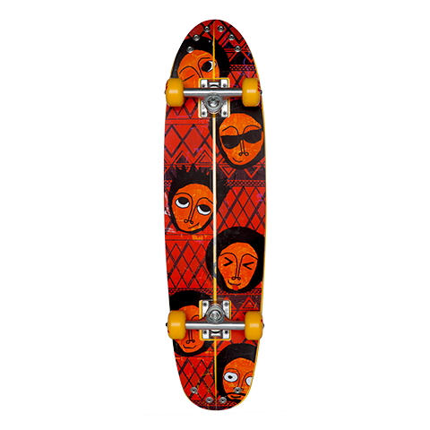 Ethiopia Skate Board Kit (Orange)