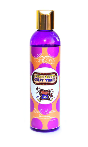 Peanut Butter Jelly Time™ -Body Lotion - Angels and Tomboys™ as seen on SHARK TANK. Vegan friendly made with Shea Butter, Vitamins, and Aloe Vera