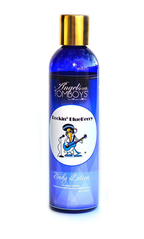 Angels and Tomboys Rockin' BlueBerry Body Lotion -- no parabens, vegan friendly, made with shea butter