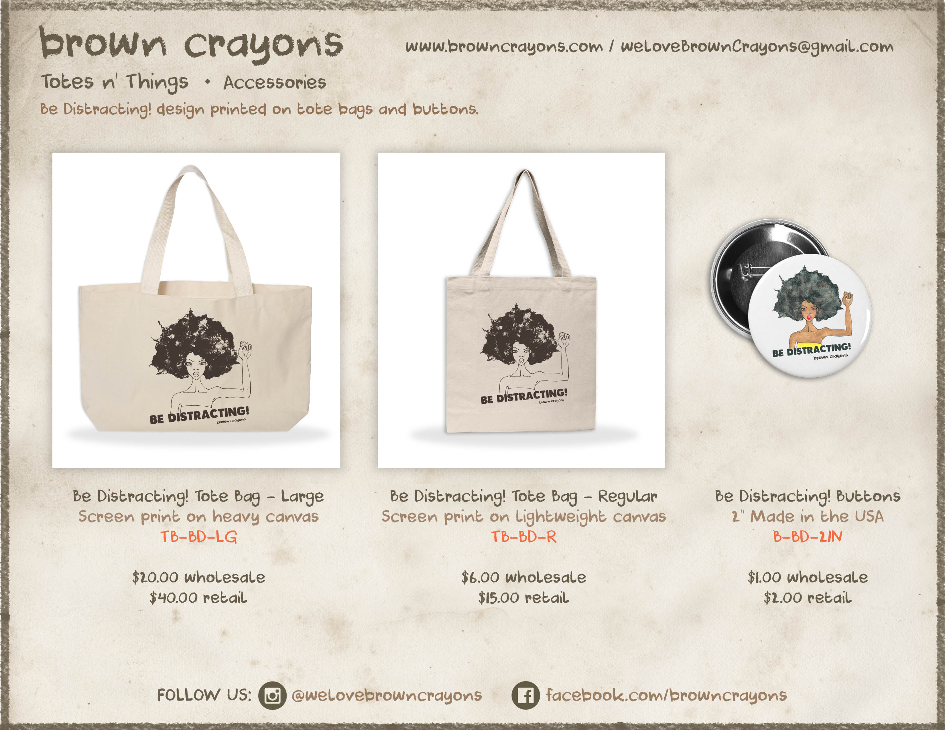 Brown Crayons Accessories