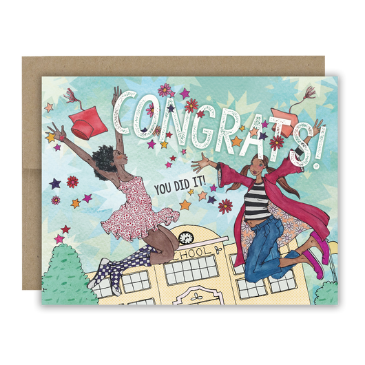 Congrats! You Did It! Graduation Notecard
