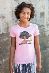 Kids Short Sleeve T-shirt - Be Distracting! - 2 Colors