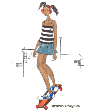 Kids Short Sleeve T-shirt - Skater Girl - New!!