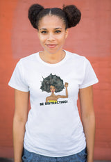 Brown Crayons Be Distracting! White Short Sleeve Organic Shirt