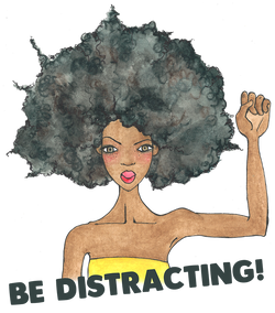 Brown Girl illustration with natural hair