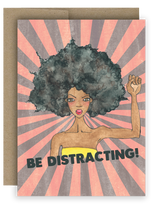 "Note Card 4 x 5.5"" - Be Distracting! Sunburst"