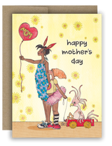 "Note Card 4 x 5.5"" - Happy Mother's Day"