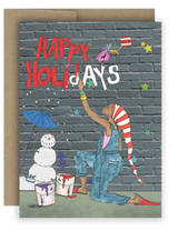 "Note Card 4 x 5.5"" - Happy Holidays"