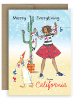 "Notecard 4 x 5.5"" - Merry Everything from California"