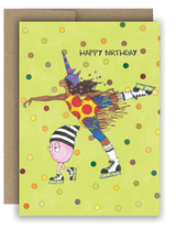 "Note Card 4 x 5.5"" - Unicorn Ice Capades - Happy Birthday Card"