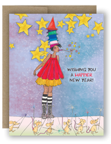 "Note Card 4 x 5.5"" - Wishing You A Happier New Year"