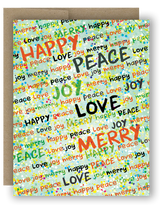 "Note Card 4 x 5.5"" - Happy Peace Joy"