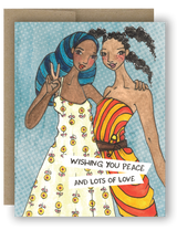 "Notecard 4 x 5.5"" - Peace and Lots of Love"