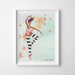 Wall Print - Brown Ballerina - 2 Sizes!