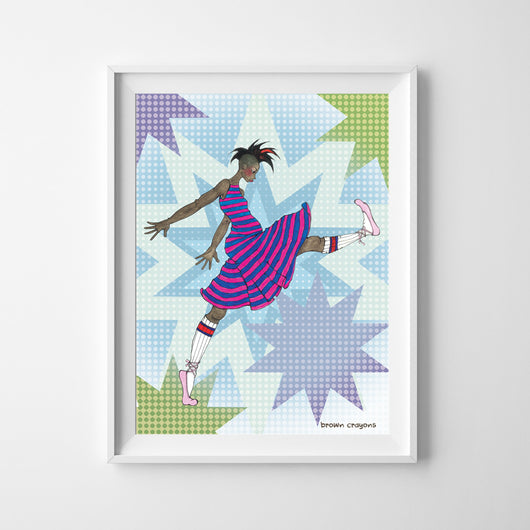Wall Print - Kick! - 2 Sizes