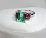 4.51 Ct Natural Colombian Emerald & Ruby Ring 14k Gold