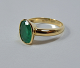 2.50cts Natural Colombian Emerald Solitaire Ring 18K Gold