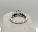 1.65ct Colombian Natural Emerald Diamond Engagement Ring Platinum